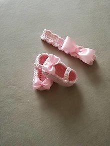 Detské topánky - Suprava papučky čelenka - 13296270_