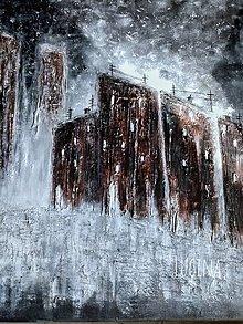 Obrazy - Abstrakt...Staré verzus Nové mesto - 13295941_