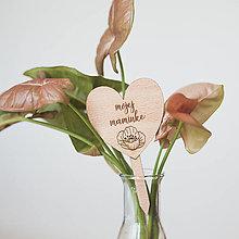 Dekorácie - maminke ~ zápich do kvetináča (I) - 13295852_