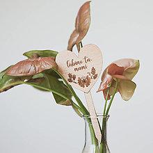 Dekorácie - maminke ~ zápich do kvetináča (III) - 13295858_
