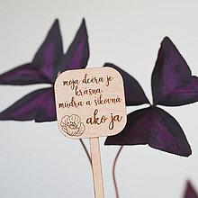 Dekorácie - maminke ~ zápich do kvetináča (V) - 13295862_