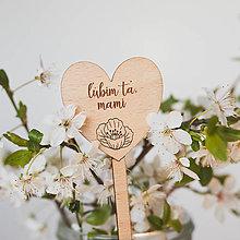 Dekorácie - maminke ~ zápich do kvetináča (IV) - 13295869_