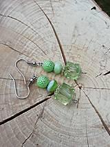 Náušnice - Náušničky drahokamy  zelené - 13294391_