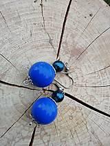 Náušničky guličky modré