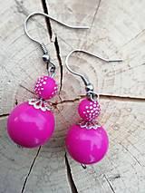Náušnice - Náušničky guličky ružové - 13295045_