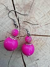 Náušnice - Náušničky guličky ružové - 13295047_