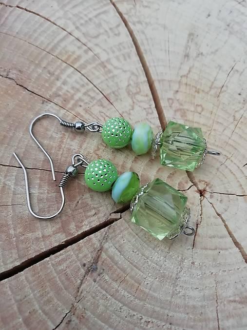 Náušničky drahokamy  zelené
