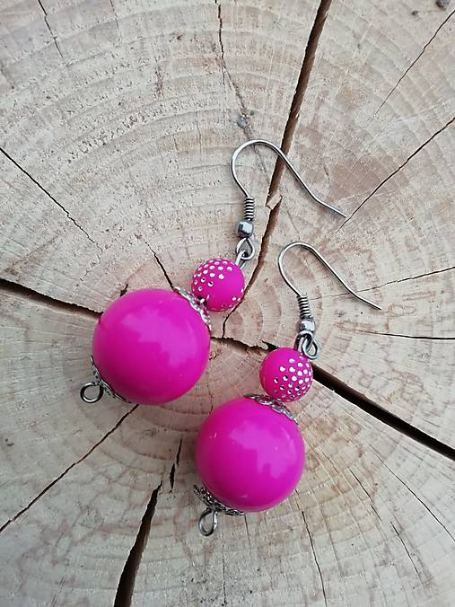 Náušničky guličky ružové