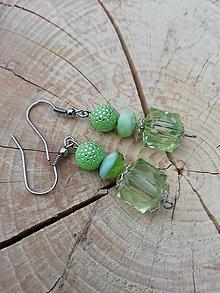 Náušnice - Náušničky drahokamy  zelené - 13294392_