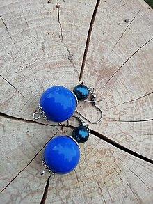 Náušnice - Náušničky guličky modré - 13295029_