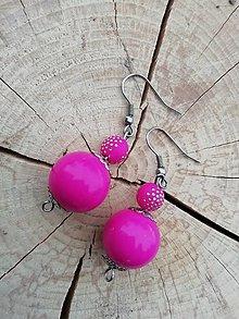 Náušnice - Náušničky guličky ružové - 13295046_