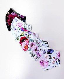 Rúška - Dizajnové bavlnené rúško - Spring flowers - 13297902_