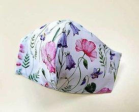 Rúška - Dizajnové bavlnené rúško - Spring flowers (Zvončeky) - 13297915_