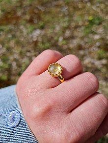 Prstene - Sagenit pozlátený prsteň Ag 925 - 13297237_