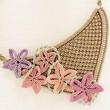 """Náhrdelníky - Makramé náhrdelník """"Jarné kvety"""" - 13298089_"""