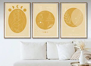 Grafika - Grafika - sada troch printov - kolekcia Stay wild moon child - 13297738_