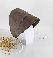 Detské čiapky - Stone - detský ľanový čepček - 13295208_