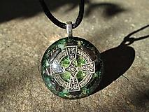 """Náhrdelníky - Org. šperk ,, Keltský kříž ochrany """" s hematitem - 13293941_"""