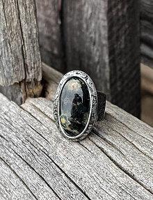 Prstene - Čierny oceánsky jaspis - prsteň - 13297187_