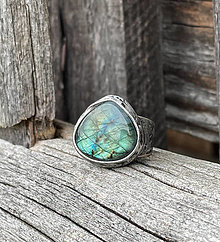 Prstene - Labradorit - menšia kvapka - prsteň - 13297260_