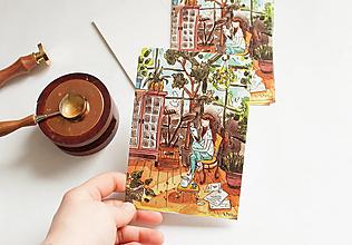 """Papier - Pohľadnica """"Chvíľka s knihou"""" - 13298217_"""