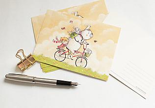 """Papier - Pohľadnica """"Jarná zábava"""" - 13298288_"""