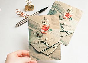 """Papier - Pohľadnica """"spomienky"""" - 13298360_"""