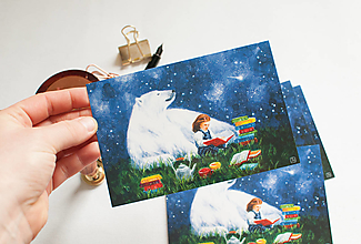 """Papier - Pohľadnica """"sila knižných príbehov"""" - 13298524_"""