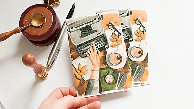 """Papier - Pohľadnica """"typewriter"""" - 13298646_"""