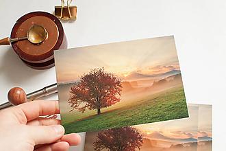 """Papier - Pohľadnica """"Ráno s višňou, Turiec"""" - 13298949_"""