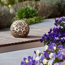 Svietidlá a sviečky - záhradná guľa - svietnik - 13294824_