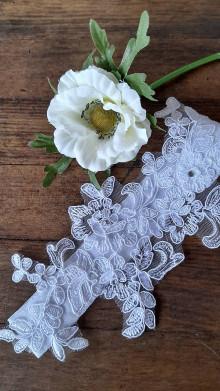 Bielizeň/Plavky - Svadobný podväzok - biely - 13294379_