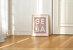 Grafika - print / kolekcia SEBALÁSKA / sebaláska (CELESTE) - 13294778_