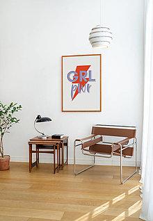 Grafika - print / kolekcia SEBALÁSKA / GRL PWR (KLASIKA) - 13294792_