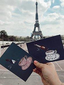 Papiernictvo - French Coffeelovers pohľadnice - 13298915_