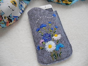 Na mobil - Nevädzové (ručne vyšívané púzdro na mobil) - 13299598_