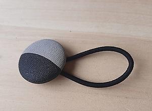 Ozdoby do vlasov - gumička buttonková ŽELEZOBETÓN - 13301218_