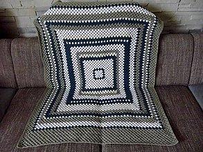 Úžitkový textil - háčkovaná deka - 13299610_