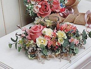 Dekorácie - Svietnik na stôl (svietnik) - 13301205_