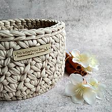 Košíky - Cappuccino | košík pro báječnou ženu - 13302670_