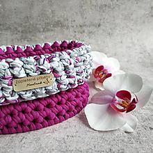 Košíky - Orchid | malý háčkovaný košík - 13302934_