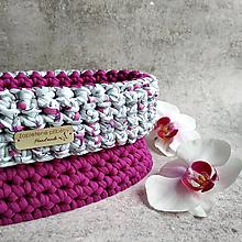 Košíky - Orchid   štýlový háčkovaný košík - 13302952_