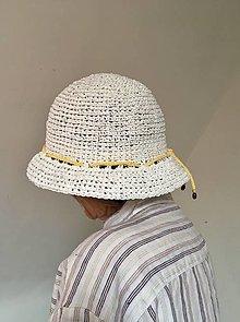 Čiapky - Letný klobúk biely. - 13301641_