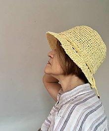 Čiapky - Letný klobúk žltý. - 13301654_