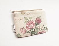 Peňaženky - Peňaženka/dokladovka - Romantické ruže - 13301990_
