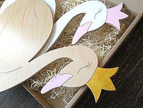 Detské doplnky - Detská drevená lampa - Labuť - 13303250_