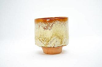 Nádoby - Yunomi medovo-pieskový | čajová miska | - 13300979_