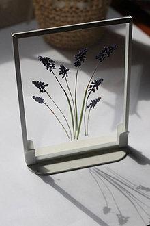 Obrázky - Obraz Lesné jarné kvety Darček pre maminku Vitráž - 13301203_