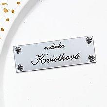 Tabuľky - Menovka - rodinka Kvietková - 13299647_