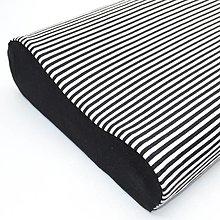 Úžitkový textil - Tenký pásik čierny - úplet - obliečka na anatomický vankúš - 13299286_